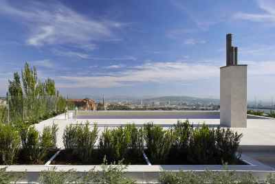 New modern apartments in Barcelona in a luxury residential complex with a swimming pool